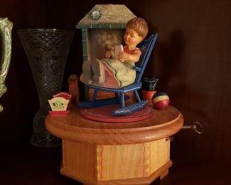 Swiss wood music box