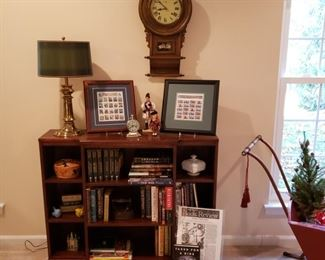 Bookcase with Lincoln and Washington books signed copies of Taken For A Ride co-authored by our clients son