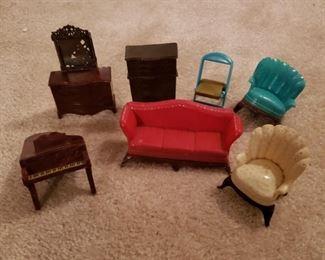 Plastic doll house furniture