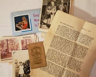 Vintage photos and letters