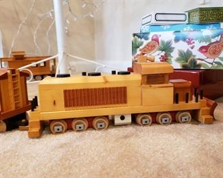 Newer wooden train set