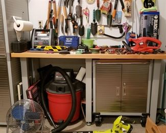 Tools and work bench