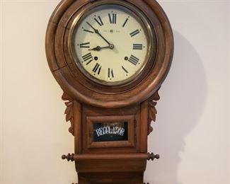 Walnut case regulator clock