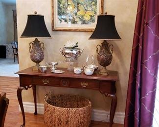 Thomasville mahogany console table