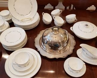 Many pieces with the Royal Doulton china