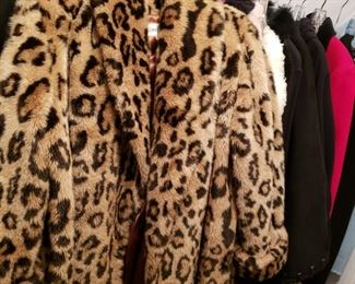 Neiman Marcus faux fur coat and many other jackets