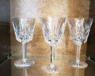 Waterford wine and water goblets