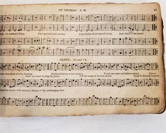 1820's 1st Edition leather bound The Missouri Harmony Psalm, Tunes, Hymn's and Anthems