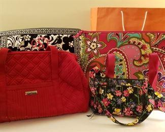 Many, many, many handbags including Vera Bradley
