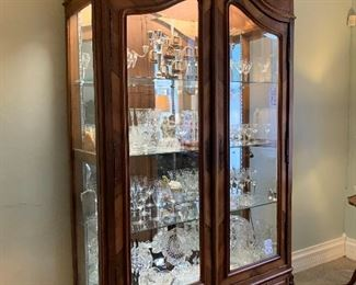 Gorgeous Display Cases! And Beautiful Crystal and Cut Glass!
