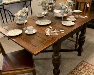 Antique Table with Four Matching Chairs
