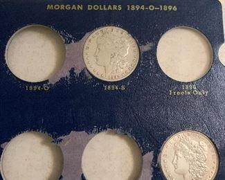1894-S AND 1896 MORGAN SILVER DOLLARS