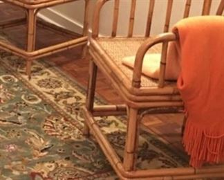 Fab. Pair of Rattan & Cane Seats Chairs