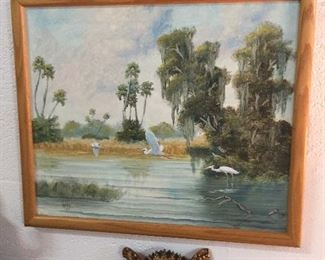 Everglades Artist Painting by Gibby