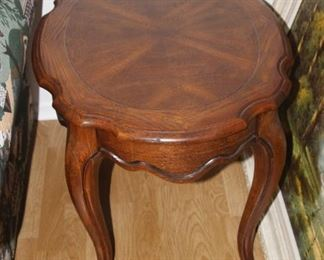 One of two matching end tables.