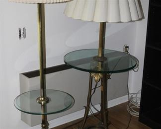 Two tables with lamps.