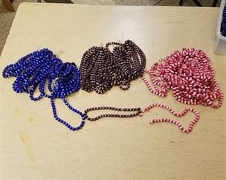 approximately 60 beaded strands - assorted colors - 10 mm
