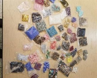 over 50 bags of assorted jewelry beads