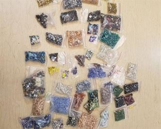 approximately 40 bags of assorted jewelry beads