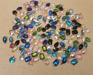 over 150 assorted prism pendants
