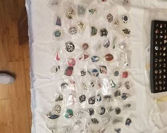 approximately 80 pairs of assorted earrings