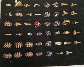 approximately 47 assorted rings