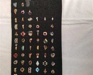 approximately 59 assorted rings