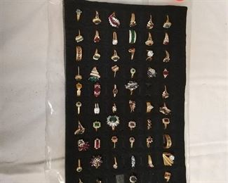 approximately 57 assorted rings