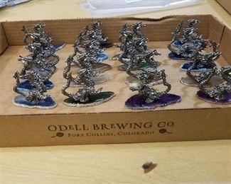 20 assorted dragons mounted on Cut and polish Stone