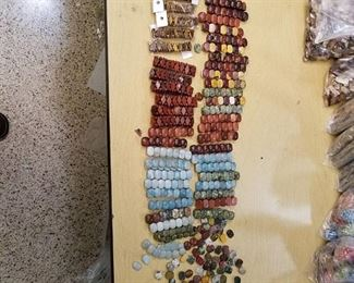 assorted bracelets and Beads