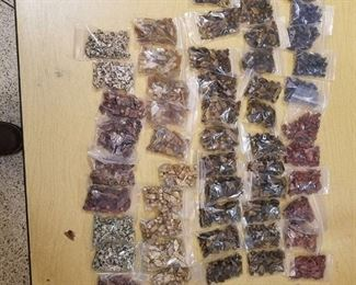 approximately 50 bags of assorted beads - various sizes shapes and colors