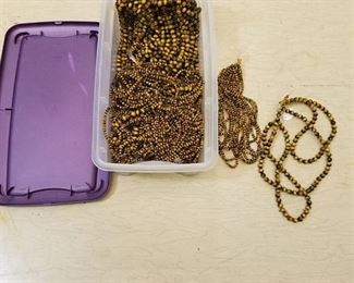 large lot of 4 mm and 8 mm brown tiger eye beaded strands