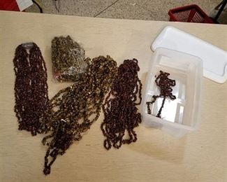 large lot of assorted beaded strands