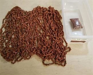 large lots of beaded strands Goldstone jewelry beads