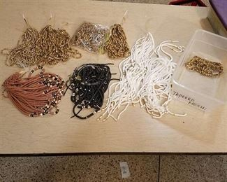 large lot of assorted stranded jewelry beads