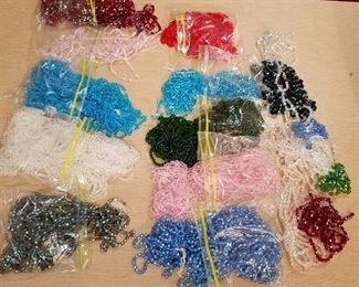 large lots of assorted beaded strands - various colors