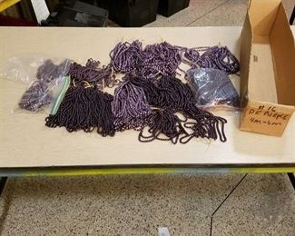 large lot of assorted dark purple 4mm and 6mm beaded strands