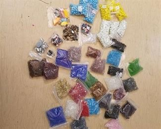 over 40 bags of assorted jewelry beads
