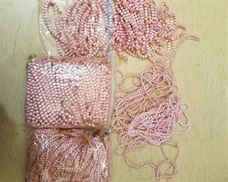 large lot of pink beaded strands - 2 different sizes