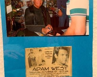 Signed Adam West
