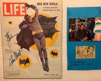 Signed Adam West Life magazine