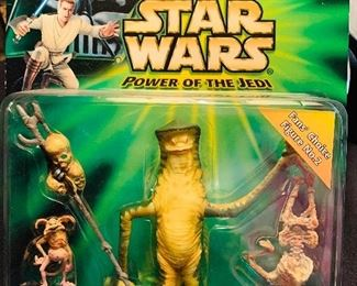 Star Wars Power of the Jedi- Amanaman with Salacious Crumb figurines new in package