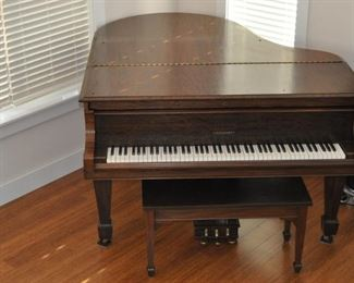 Haddorff parlor grand piano (1921) completely restored inside and out