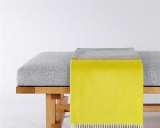 Grey and Yellow Cashmere Throw