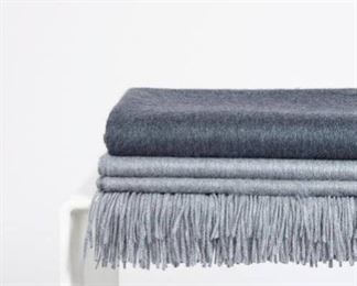 Grey and Charcoal Cashmere Scarves