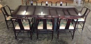 1980's Brueton Dining Table with leaves by Jay Friedman with 12 Matching Chairs