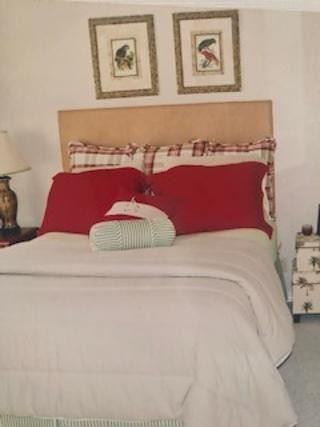 Queen Headboard and Bedding