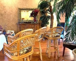 Set of four Rattan Chairs