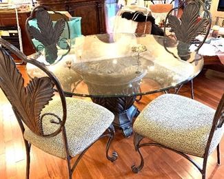Iron and Glass Table Set