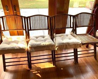 Nice Set of Rattan Chairs Folding!